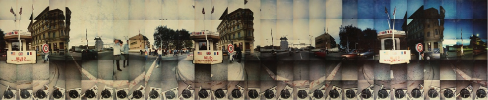 Intersections Through Time DATE - 1989 DISCIPLINE – Art MEDIUM – Panoramic Photography STAUS – Displayed at Museum Checkpoint Charlie, Berlin, Germany and at the Harbourfront Photography Gallery, Toronto, Canada WEBLINKS A series of panoramic images shot at the Berlin Wall in Berlin Germany. The exhibition was funded through a Media Arts grant from the Canada Council of the Arts.