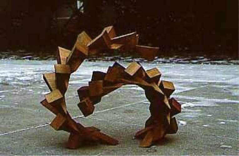 Dependence DATE - 1979 DISCIPLINE - Art MEDIUM – Modular wooden sculpture STATUS – Exhibited at the Koffler Centre, Toronto Canada
