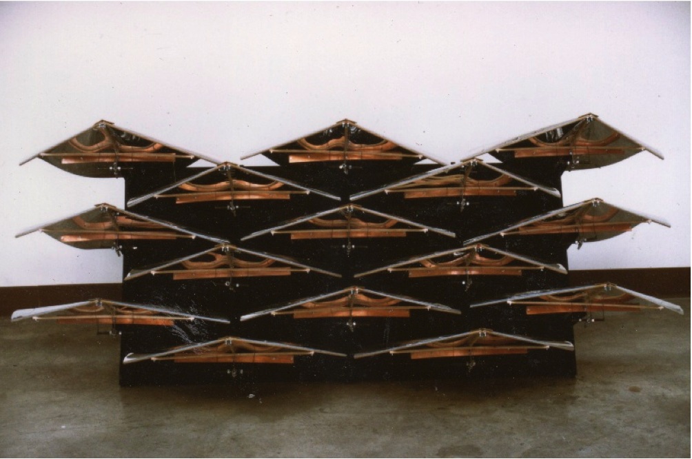 Flock DATE - 1980 DISCIPLINE - Art MEDIUM – Kinetic sculpture and performance art STATUS – Displayed at the Ontario College of Art