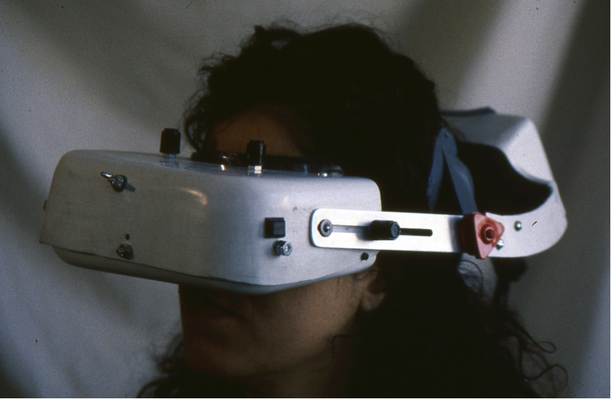 Videoglasses DATE - 1989 DISCIPLINE - Design MEDIUM – Virtual Reality headset STATUS- prototype